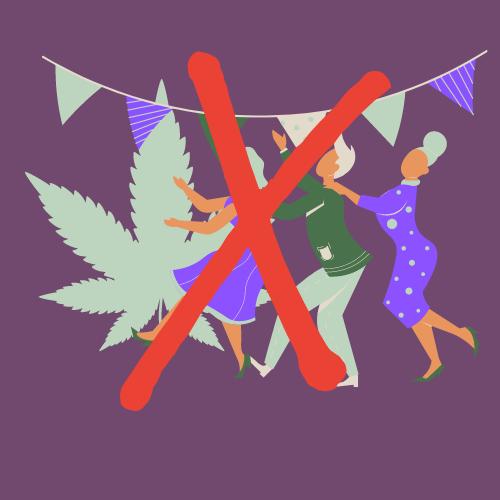Geen feesten en drugs